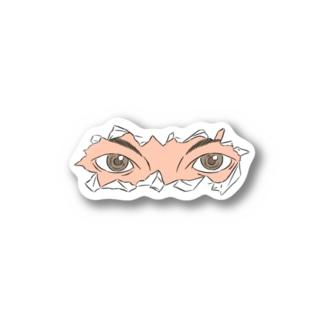 kamisakamotoのEYE LINE(人間) Stickers
