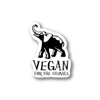 VEGAN FOR THE ANIMALSステッカー Stickers