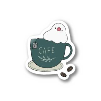 コーヒーカップ文鳥☕  (文鳥の日 2021記念) Sticker