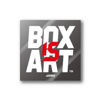 BOX IS ART ロゴ 3 ステッカー