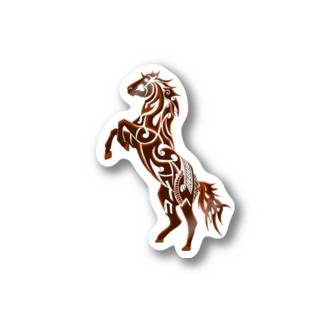 馬のトライバル ステッカー Stickers