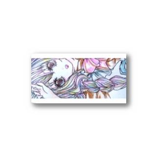 三つ編みメイドさん Stickers