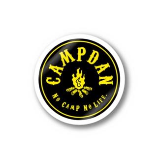 CAMPDANステッカー黒黄 ステッカー