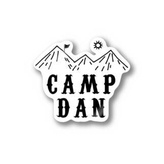 キャンプ団 山 ステッカー