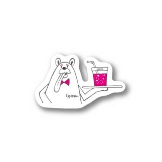 I.gasu peach bear2 【アイガス】 Stickers