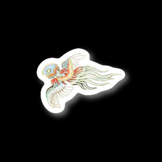 和もの雑貨 玉兎の百鬼夜行絵巻 鳥兜の付喪神【絵巻物・妖怪・かわいい】 Stickers