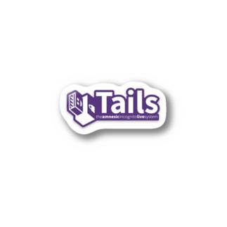 Tails sticker Stickers