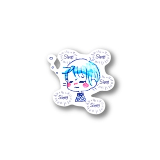 とても眠い人 Stickers