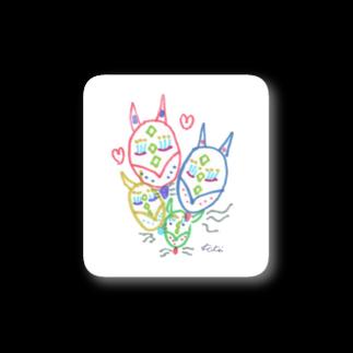 KiKiTRiP Magのきつねファミリー Stickers