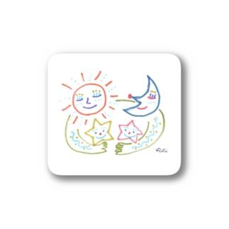 お空のファミリー Stickers