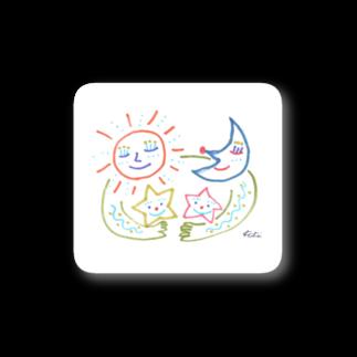 KiKiTRiP Magのお空のファミリー Stickers