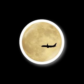 Clover4uの満月と飛行機 Stickers