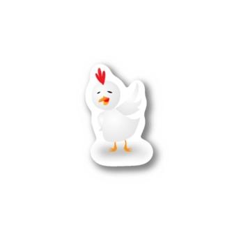 えんぜつちゅうのニワトリ Stickers