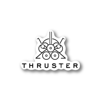THRUSTER(Black) Stickers