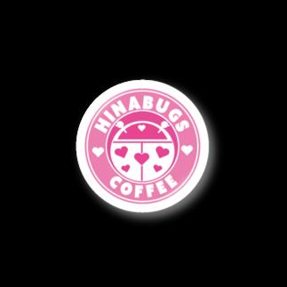 #HINABUGS COFFEE ~ぴよひな屋さん~のHINABUGS ステッカー日曜日の午後にCAFEに行きたくなるグッズ Stickers