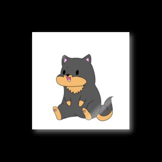 kurosiba0520のちょこんとおすわり黒柴 Stickers