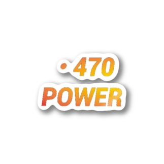 VELL470JapanRoundの・470power Stickers