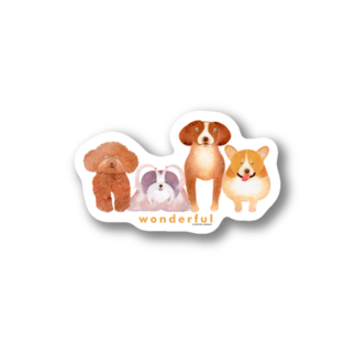 TONTON ANIMALSのTONTON-ANIMALS『Wonderful』 ステッカー