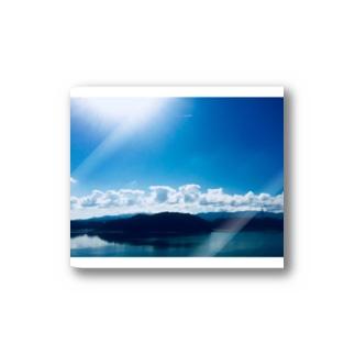 Sky.Royalblue Stickers