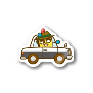 イネカリ警部の旧式パトカー Stickers
