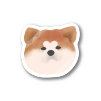 【ステッカー】秋田犬~赤毛 ステッカー