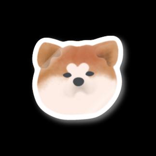 『レモンのれ』SUZURI店の【ステッカー】秋田犬~赤毛 ステッカー