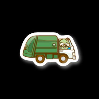 コメビツくんのザンパンくんのゴミ収集車 Stickers