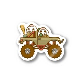 ガパオ族のモンスタートラック Stickers