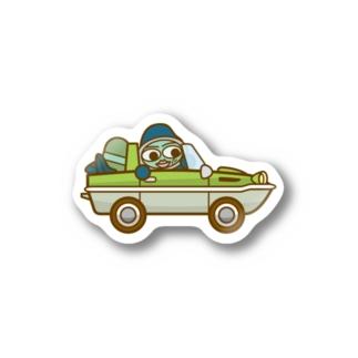 ウズシオくん水陸両用車 Stickers