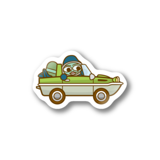 コメビツくんのウズシオくん水陸両用車 Stickers