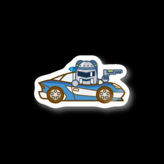 コメビツくんのジャンバラヤくんの高速パトカー Stickers