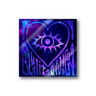 ステッカー - H 宇宙×宇宙(ブルー) Stickers