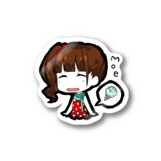 SD Orange Canvas 栂野萌(stray cats) Stickers