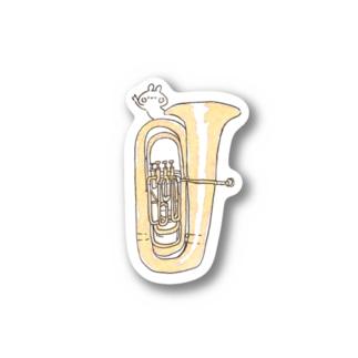 チューバB♭管とうさぎ ステッカー