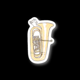 *momochy shop*のチューバB♭管とうさぎステッカー