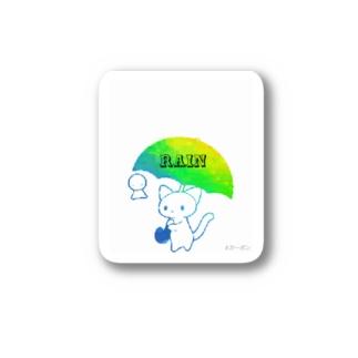 RAIN CAT Stickers
