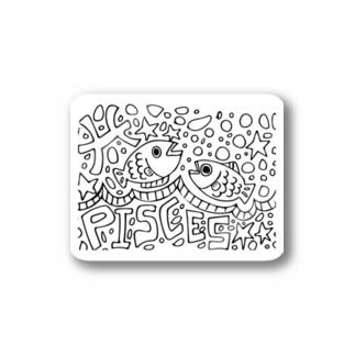 魚座バック Stickers