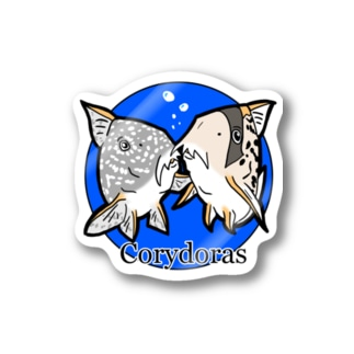 The Cute Corydoras (blue) Stickers