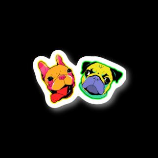 バルマンmamaのsupremeステッカー Stickers