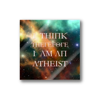 I Think Therefore I am an Atheist Stickers