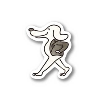 Rock'n'roll Dog Stickers