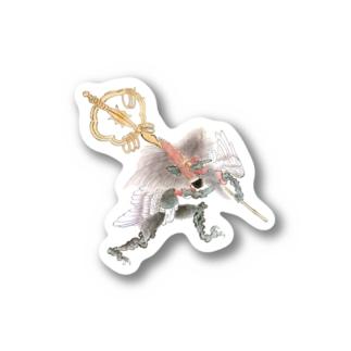 百鬼夜行絵巻 笙の付喪神【絵巻物・妖怪・かわいい】 Stickers