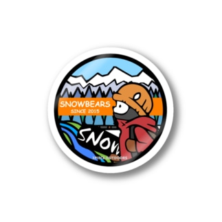 snowbears.orange Stickers