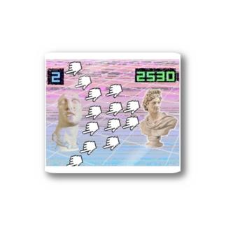 Vaporwaveっぽいやつ Stickers