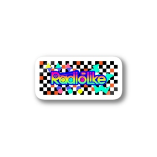 Radio Lile hmm...オリジナルロゴ(市松模様) Stickers