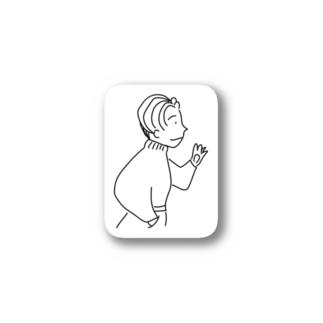 80年代風ニット系男子 Stickers