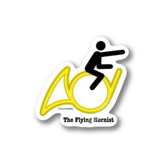 The Flying Hornist w/ Logo Stickers
