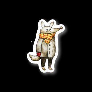 八雲のお店のオオカミくんステッカー