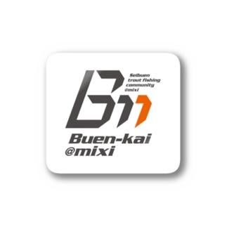 ブエン会ロゴ(ステッカー/白) Stickers