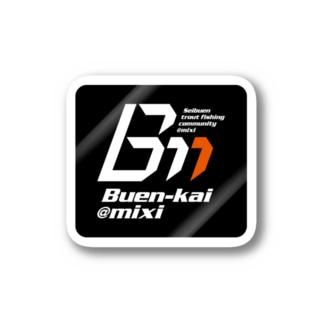 ブエン会ロゴ(ステッカー/黒) Stickers